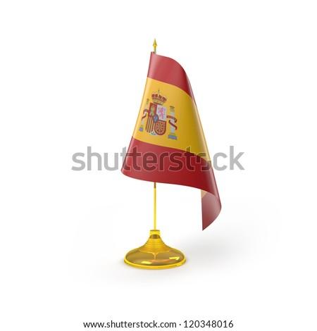 Spain Flag Detail Render - stock photo