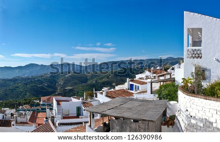 Spain - Frigiliana is a town in the province of Malaga - stock photo