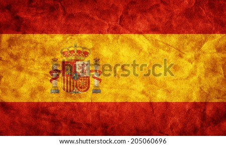Spain grunge flag. Vintage, retro style. High resolution, hd quality. Item from my grunge flags collection. - stock photo
