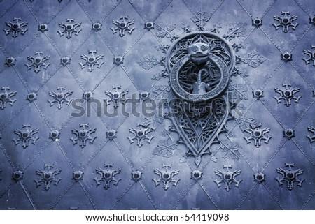 Spain. old door knocker - stock photo