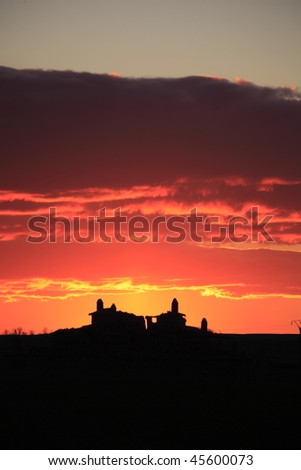 Spain Sunset  (vertical) - stock photo