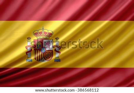 Spain waving flag - stock photo