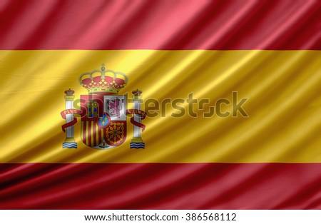 Spain waving flag - stock photo