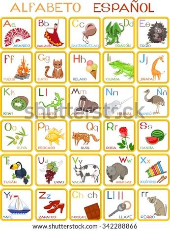 Spanish alphabet - stock photo