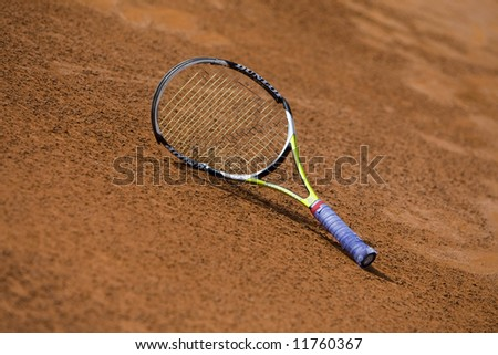 Spanish ATP Tour -Valencia City Open Tennis Championships 2008 - 2008.04.20 - racket - stock photo