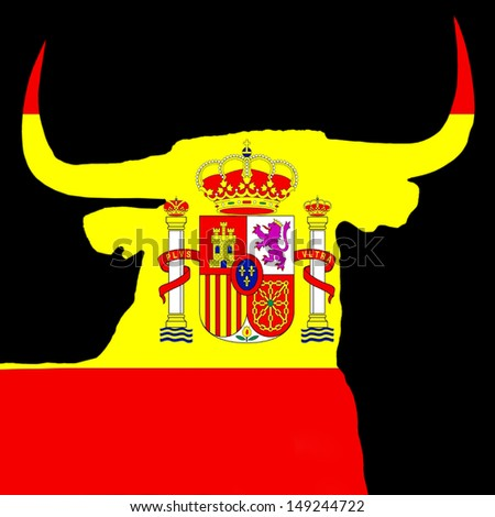 spanish bull - stock photo