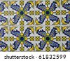 Spanish Ceramic Tiles Mediterranean - stock photo