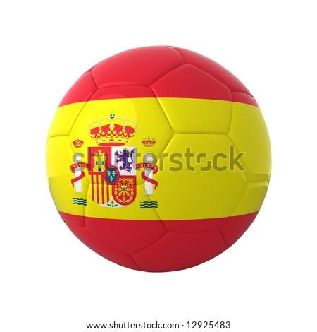 Spanish football for europe's championship. - stock photo