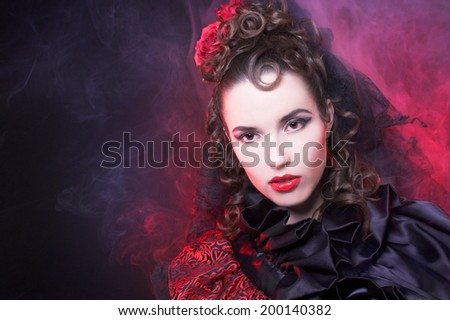 young lady in spanish