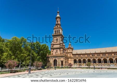 Spanish Square in Sevilla, Spain - stock photo