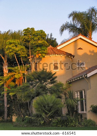 Spanish-Style Home - stock photo