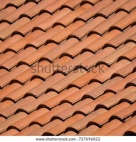 Spanish Tile Roof Texture Background