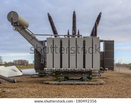 Spare High Voltage Transformer - stock photo