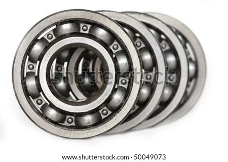 spare parts - bearings - stock photo