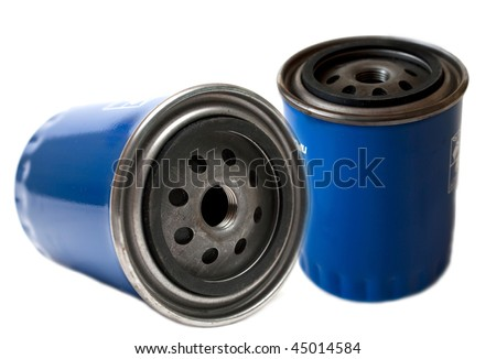 spare parts- motor fuel filter - stock photo