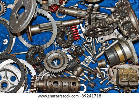 spare parts motorcycle - stock photo