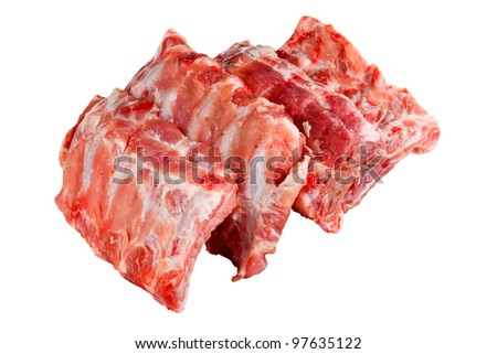 spare ribs as a cut out