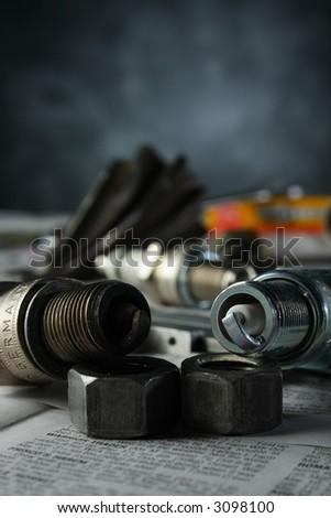 Spark plugs - stock photo