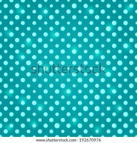 Sparkle Green Blue Polka dot Seamless Pattern Background - stock photo