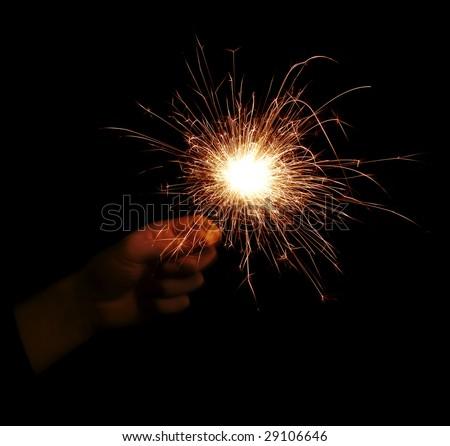 Sparkler element. - stock photo