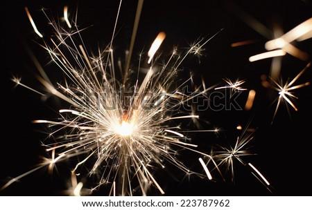 Sparkler fireworks - stock photo