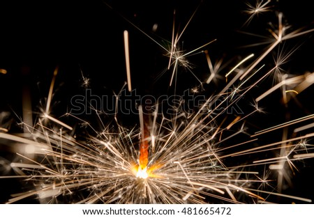 sparklers isolated on black background