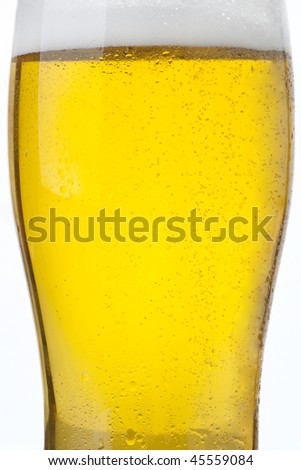 Sparkling beer glass - stock photo