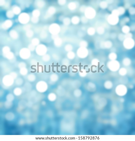 Sparkling Lights Festive background with texture. Abstract Christmas twinkled bright background with bokeh defocused silver and blue  lights - stock photo