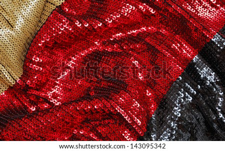 Sparkling sequined textile - stock photo