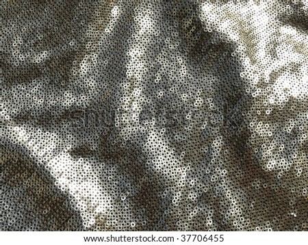 Sparkling sequined textile closeup. More of this motif & more sequins in my port. - stock photo