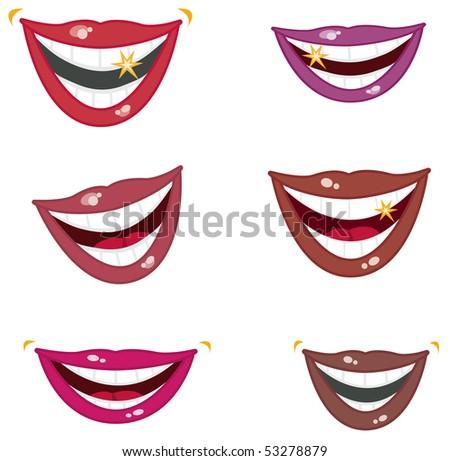 Sparkling Smiles - RASTER version - stock photo