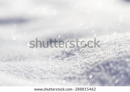 Sparkling snow - stock photo