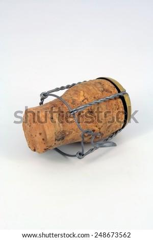 Sparkling wine cork. Wine bottle cork. - stock photo