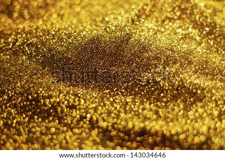 Sparkly Gold Texture - stock photo