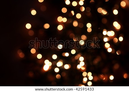 sparkly lights bokeh - stock photo