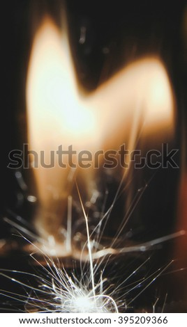 Sparks from the a lighter