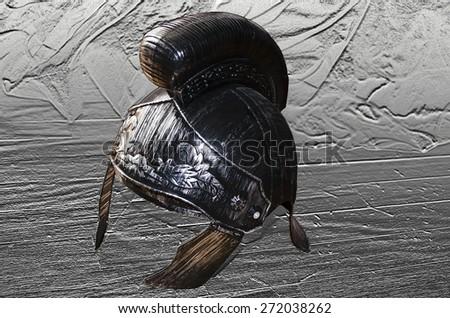 Spartan Helmet - stock photo