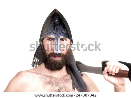 spartan men - stock photo