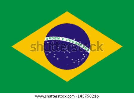 Spatter flag illustration of Brazil