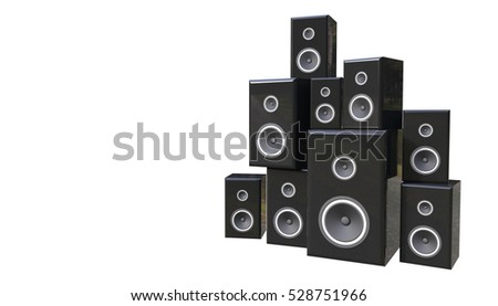 Speaker Concept 3D Rendering Isolated on a white background
