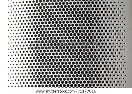 Speaker holes - stock photo