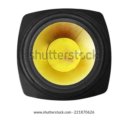 speaker isolated on white - stock photo