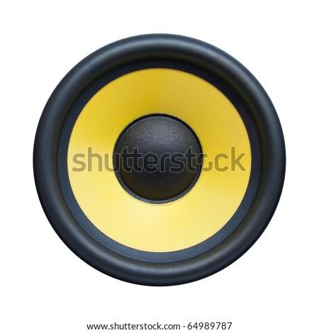 Speaker isolated on white - stock photo