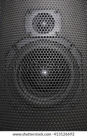 Speaker mesh close up. Full frame. Music audio concept - stock photo