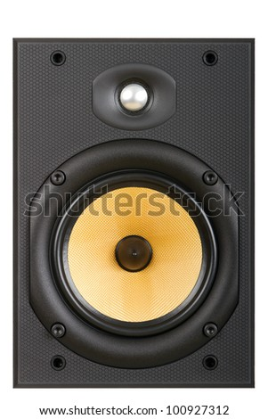 speaker on a white background - stock photo
