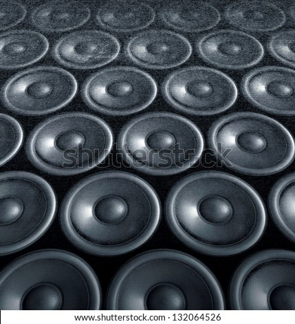 Speakers collage, useful image in a musical composition.