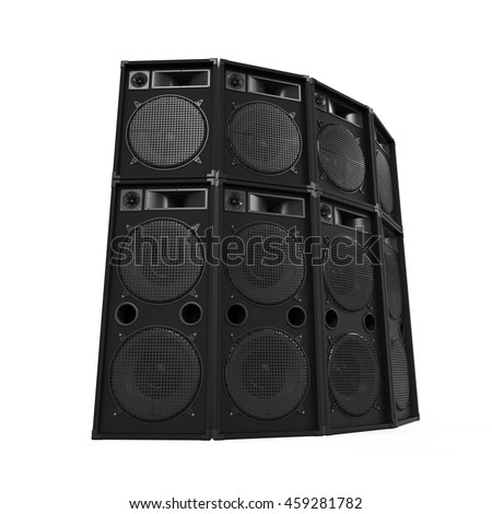 concert stage speakers. speakers sets. 3d rendering concert stage r