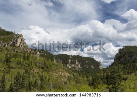 Spearfish Canyon - stock photo