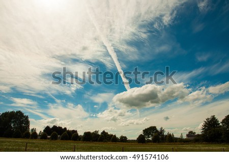 Spearing a cumulus cloud.