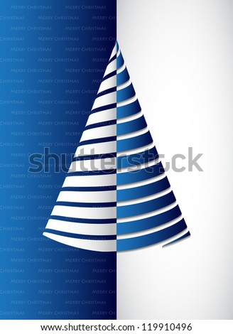 special blue Christmas banner - stock photo
